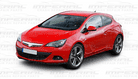 VAUXHALL  ASTRA J  GTC  FRONT SUPPORT BAR  ( BEHIND BUMPER )     NEW   2013  2014  2015  2016